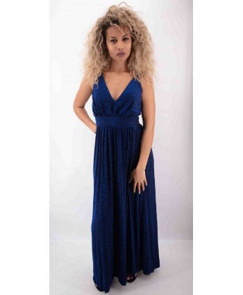 LONG DRESS WITH THIN BLUE...