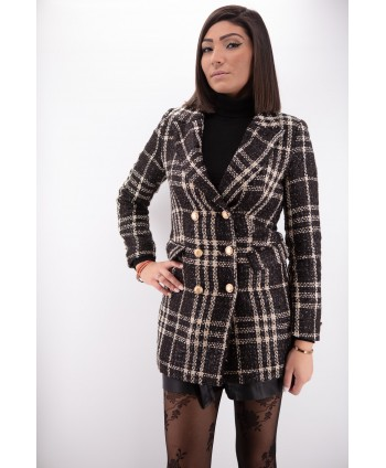 BROWN AND BEIGE CHECKED COATS