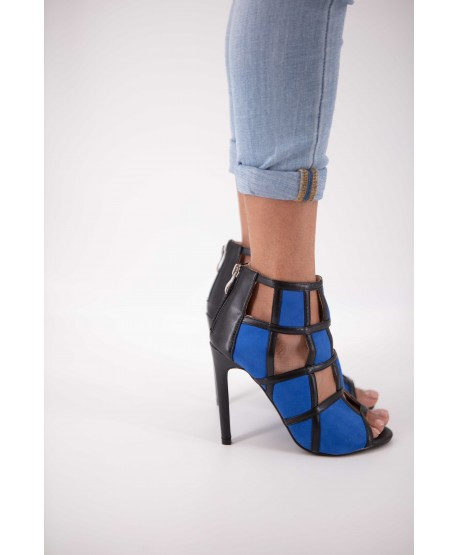 CALEEN BLUE SQUARE-TOED SANDAL