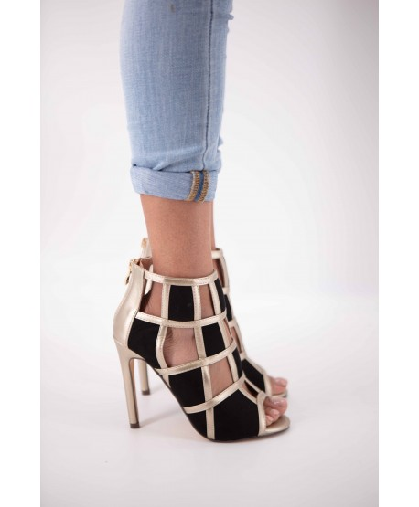 CALEEN GOLD SQUARE-TOED SANDAL
