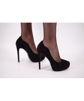 CYRA SUEDE PUMPS WITH BLACK...