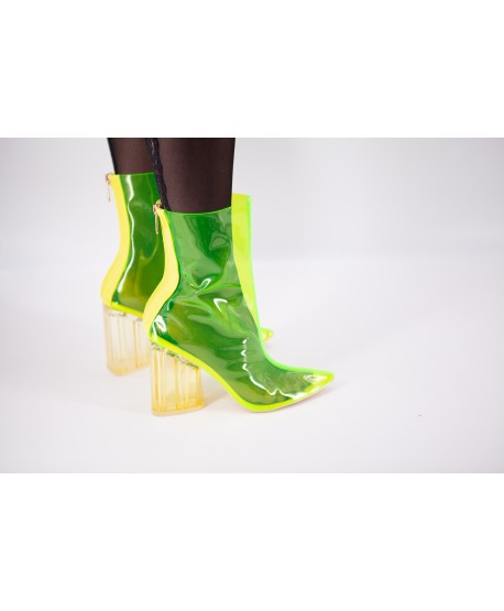 TRANSPARENT YELLOW CAITLIN BOOTIE
