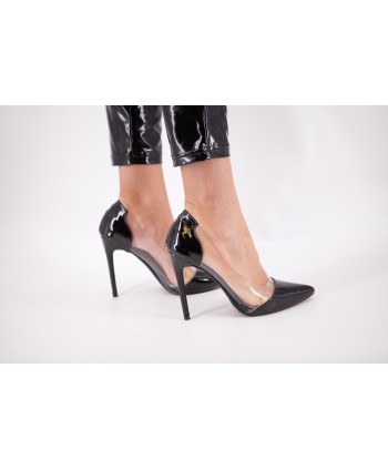 TRANSPARENT PUMP BLACK...