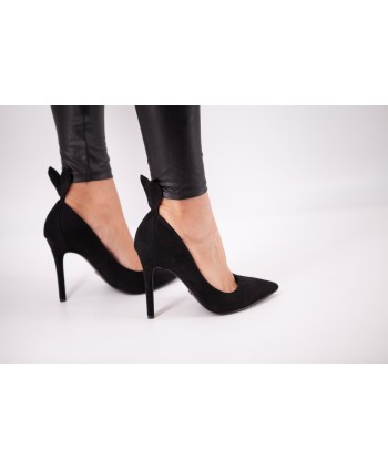 BLACK RABBIT SUEDE CHRISSIE...