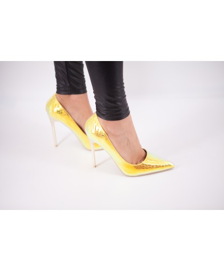 GOLD SIRENE EFFECT CELESTINE PUMPS (LIMITED EDITION)