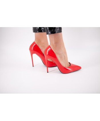 CLELIA RED PATENT PUMP