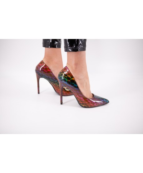 MULTICOLORED MOSAIC CHRISTABELLE PUMPS
