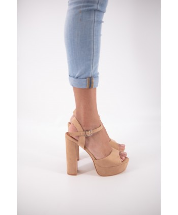 BEIGE SUEDE CHAYMA WEDGE...