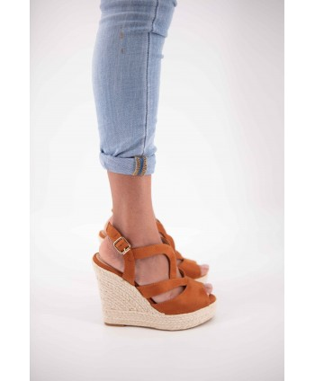 CLEARA CAMEL WEDGE ESPADRILLE