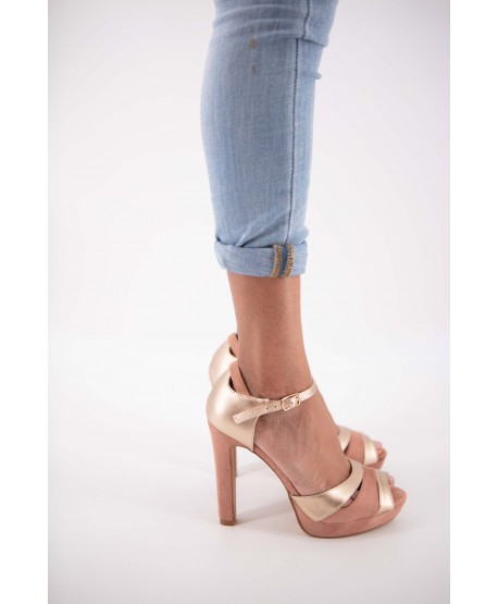PINK AND GOLD CHARLOTTA BI-COLOUR SANDAL