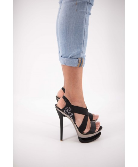 BLACK COLORFUL CANDYLENE PLATFORM SANDAL