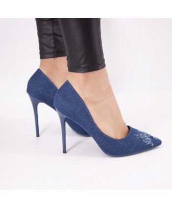 CLAUDETTE BLUE DENIM PUMP