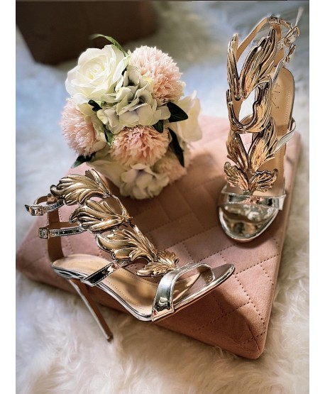 CEZANOTTI SANDAL SILVER AND GOLD (LIMITED EDITION)
