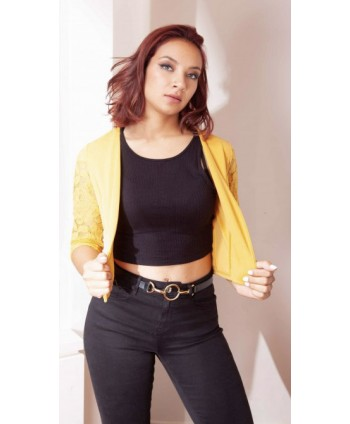 SHORT JACKET WITH YELLOW...
