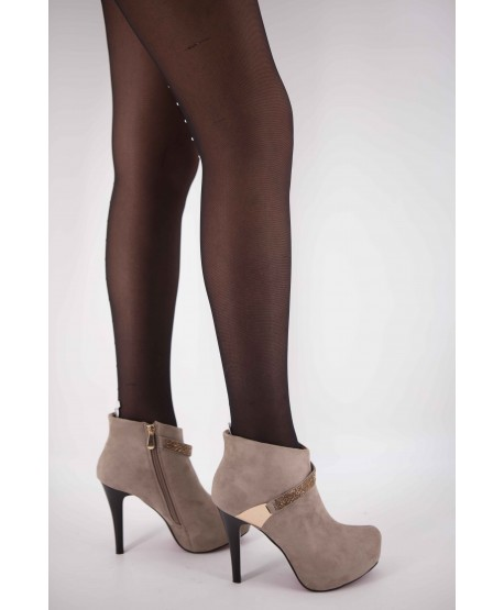 CHARLENE BEIGE SUEDE JEWELRY BOOTS